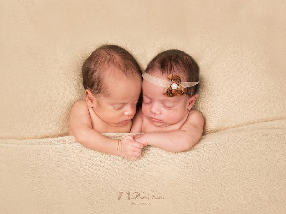 Fotografia gemelos Recien nacido bebe zaragoza